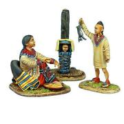 Awi098 - Woodland Indian Squaw With Boy Hunter And Baby - Awi - First Legion