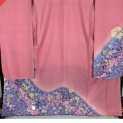 Silk Furisode Elegant Thy Blossoms Are Gorgeous With Small-colored Material