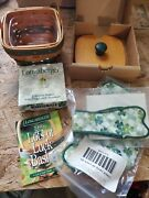New Longaberger 1999 Lots Of Luck Basket, Grip, Fabric,tie-on, Protector, Lid
