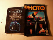 Minolta Slr Camara Accessory Book 35mm Film And The Photo Magaize 1 Package Deal