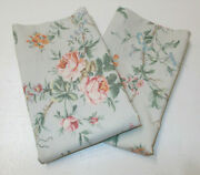 2 Rare Toulouse Floral Standard Pillowcases French Country Cottage