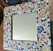 Mosaic Mirror With Beveled Glass