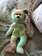 Vintageandrdquopeaceandrdquoty Beanie Babies With Tag -rare Find -retired From 1996
