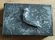 Antique Arts And Crafts Movement Hand Made Pewter Box