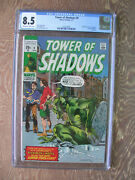 Tower Of Shadows 9 Cgc 8.5 Wrightson Cover H.p. Lovecraft Adaptation