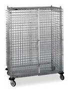 Metro 3w571 Wire Security Cart With Adjustable Shelves 900 Lb Capacity, 53 In L