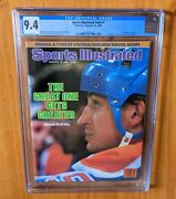 Sports Illustrated 1985 Gretzky Newsstand Cgc 9.4 One Higher Pop 1 Gorgeous