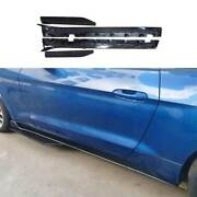 Gt500 Dry Carbon Fiber Side Skirts Extension Spoiler For Ford Mustang 2015-2021
