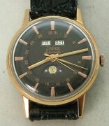 Rare Pink Rose Gold Zodiac Triple Date Moon Phase Automatic Men Watch Ca 74 Hack