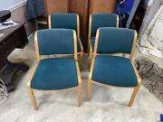 4 Thonet Bentwood Mid Century Modern Arm Chairs