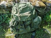 Us Military Alice Combat Field Pack - Large - Complete W/ Frame Straps And Belt