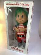 22 Telco Motionette Animated Christmas Elf Troll Vintage In Box