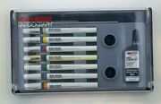 Koh-i-noor Rapidograph Technical Drawing Pack 7 Pens Set W/3085-f Ink