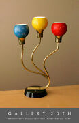 Rare 50and039s 3-shade Laurel Lamp Triennale Italian Atomic Mid Century Modern 60and039s
