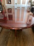 Very Nice Mid Century Modern Rosewood Oval Dining Table And 2 Leafs.