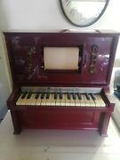 Piano Lodeon J Chein And Co Mini Automatic Piano Player With Scroll Works
