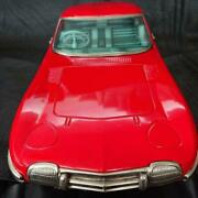 Nomura Toy Toyota 2000gt Tin Tinplate Red Vehicle Car Model With Box Used