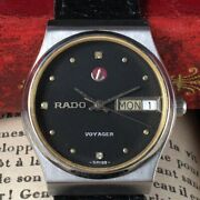 Vintage Rado Swiss Voyager Watch Overhaul For Menand039s From Japan
