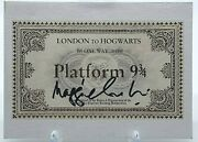Maggie Smith Signed Harry Potter Hogwarts Express Acoa Certified