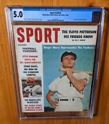 Sport Magazine 1960 Maris Fc Cgc 5.0 First Ever Cover One Year B4 Si