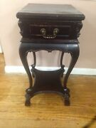 Very Rare Antique French Walnut Night/end Side/ Table/1 Drawer Renaissance 2tier