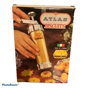 New Marcato Atlas Biscuits Cookie Press 4 Tips And 20 Discs Vintage Made In Italy