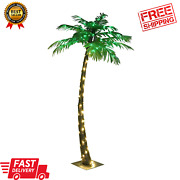 Artificial Lighted Palm Tree 56led Lights Decoration 5 Ft. For Home Patio Party