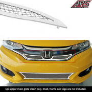 Fits 2018-2019 Honda Fit W/ Logo Show Main Upper Stainless Chrome Mesh Grille