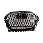Rs3 Style Gloss Black Grill For 2014-2016 Quattro Honeycomb For Audi A3 S3