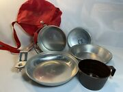 Vintage Boy Scouts Of America 5 Piece Mess Kit By Regal J9a With Carrying Pouch