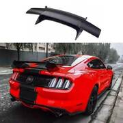 Aircraft Dry Carbon Fiber Rear Spoiler Trunk Lip Wing For Ford Mustang 2015-2021