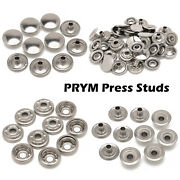 New Prym Stainless Steel Press Studs Snap Fasteners For Denim Car Hoods Clothes