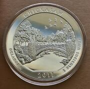 2011 Chickasaw 5 Oz America The Beautiful Coin In Government Issued Capsule