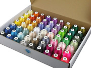 63 Colors Polyester Embroidery Machine Thread Kit 40 Weight Sewing Machines 550y