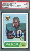1998 Topps Stars Rookie Reprints Auto 6 Gale Sayers Psa 9 0130