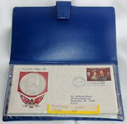 1975 Royal Visit Bermuda Silver 25 Coin And First Day Cover And Stamp W/coa Wallet