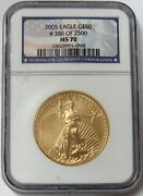 2005 Gold 50 American Eagle Coin Ngc Mint State 70