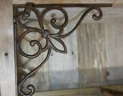 Antique Style French Victorian Cast Iron Shelf Brackets Corbels 9 1/2 Inch, B-70