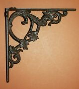 Country Villa Vintage Style Wall Shelving Brackets, Cast Iron, 9 3/8 Inch, B-37