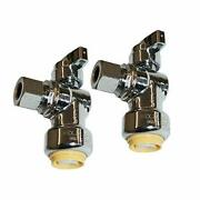 Push Fit Angle Stop Valve 1/2 Push-fit X 3/8 Od Compression Lead Free Brass