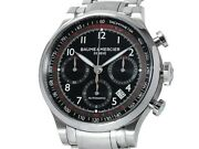 Baume And Mercier Capeland Chronograph Moa10062 Ss Auto Menand039s Watchf5276