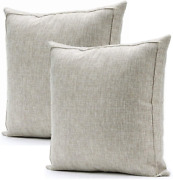 Jepeak Burlap Linen Throw Pillow Covers Cushion Cases Pack Of 2 Farmhouse Moder