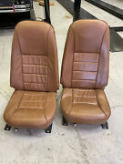 1970s Era Ford Mustang Brown Leather Bucket Seats