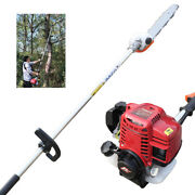 1.0kw 4 Stroke Gas Powered Pole Saw Cordless Chainsaws Tree Trimmer Long Reach