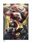 Harley Quinn Hell On Wheels Art Print By Sideshow Collectibles New