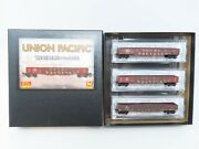 N Scale Micro-trains Mtl 99305890 Up Union Pacific 50' Gondola 3-pack Weathered