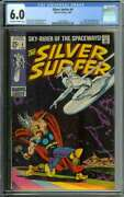 Silver Surfer 4 Cgc 6.0 Ow/wh Pages // Silver Surfer Vs Thor Classic Cover 1969