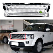 For Land Rover Discovery 4 2014-2016 Silver Front Bumper Center Hood Grill Mesh