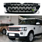 For Land Rover Discovery 4 2014-2016 Black Front Bumper Center Hood Grill Mesh