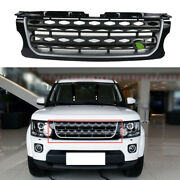 Black Front Bumper Center Hood Grill Mesh For Land Rover Discovery 4 2014-2016